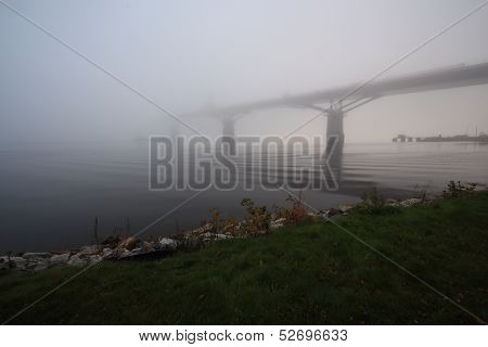 Bridge Construction In The Mist