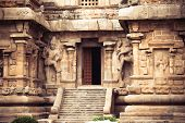 stock photo of trichy  - Central entrance at Gangaikonda Cholapuram Temple - JPG