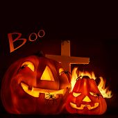 image of antichrist  - Scary Halloween night - JPG