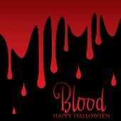 stock photo of ooze  - Blood oozing down a wall halloween card in vector format - JPG