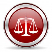 stock photo of judiciary  - justice icon - JPG