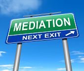 stock photo of breakdown  - Illustration depicting a sign with a mediation concept - JPG