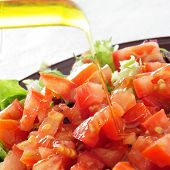 image of escarole  - closeup of a plate with salad - JPG