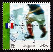 Postage Stamp France 2002 Soccer Player In Action