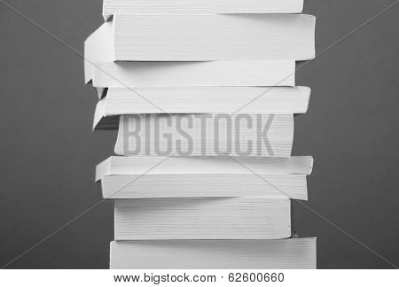 Book Stack in Black and White