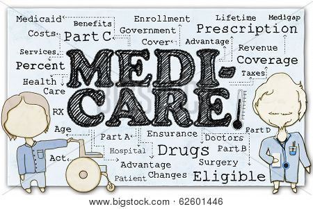 Medicare On Paper With Clipping Path