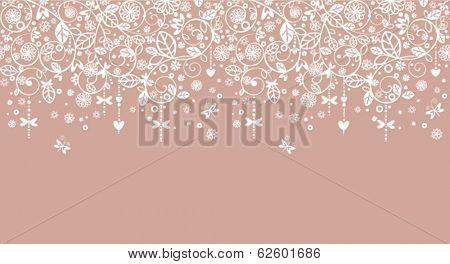 Wedding seamless lacy border