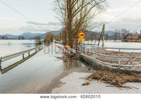 Roadblock Beacouse Of The Floods