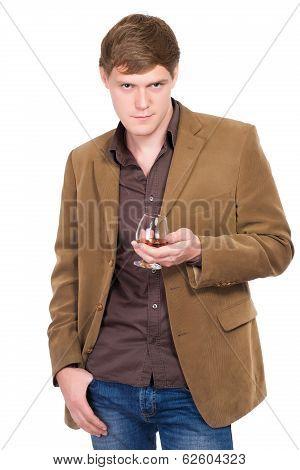 Handsome Man In Terracotta Jacket