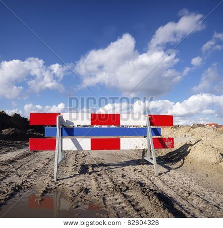 Red With White Barrier