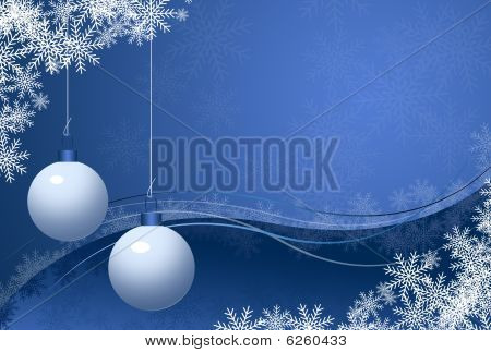 Blue Chrismas Card
