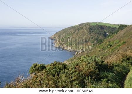 View towards Polperro Harbour