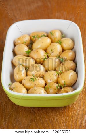 Roasting Baby Potatoes With Thyme