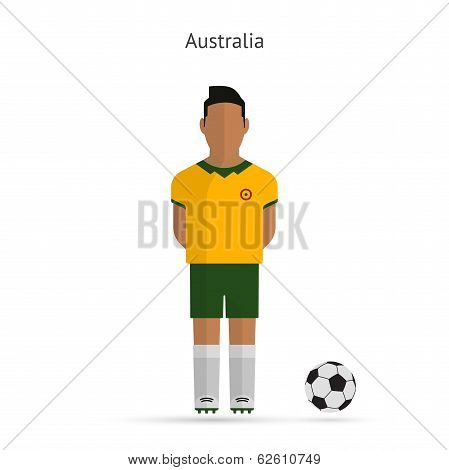 National football player. Australia soccer team uniform.