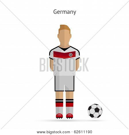 National football player. Germany soccer team uniform.