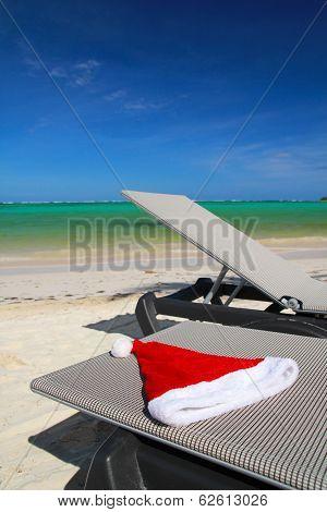 Santa Hat On Chaise Longue