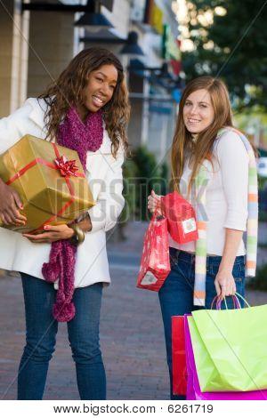Two Women Friends Shopping