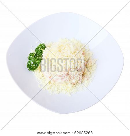 Dish With Salad Confetti