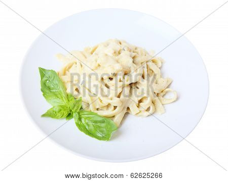 Fettuccine With Grated Cheese