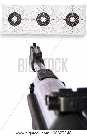 Gun Sight On Targets