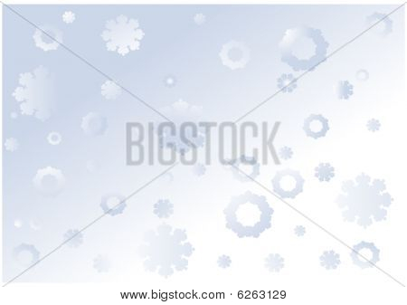 Christmas and New Year background with falling snowflakes