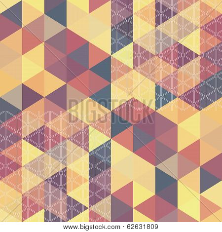 Pattern Geometric Hexagon. With Triangles