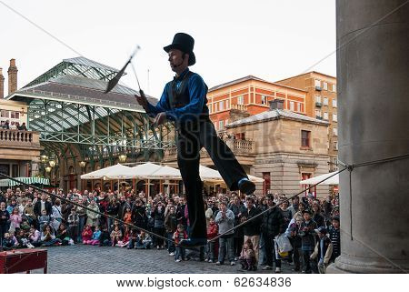 Juggler In Covent Garden