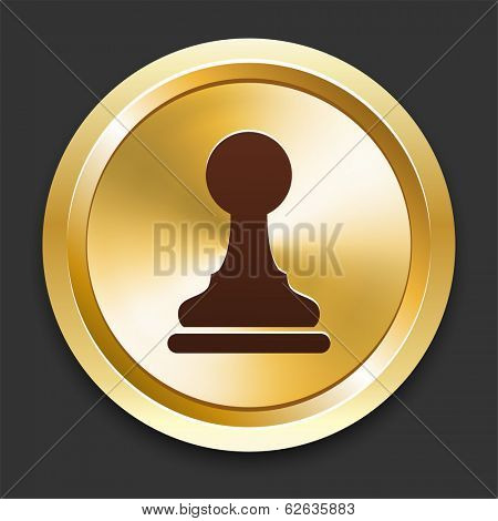 Pawn Icons on Gold Button Collection
