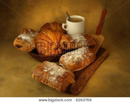 Snack or breakfast pastries prepared