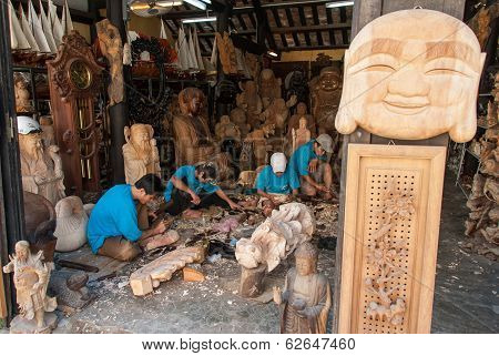 Making Statues Of Buddha In Vietnam