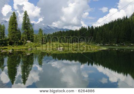 Lake Scenery In The Italian Alps