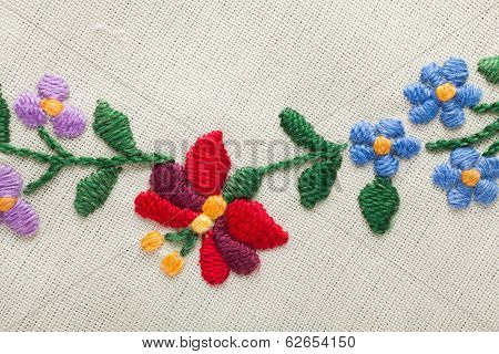 Embroidery With Flowers