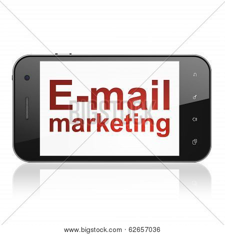 Marketing concept: E-mail Marketing on smartphone