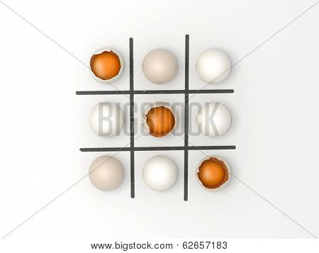 Eggs Noughts And Crosses - Easter Game