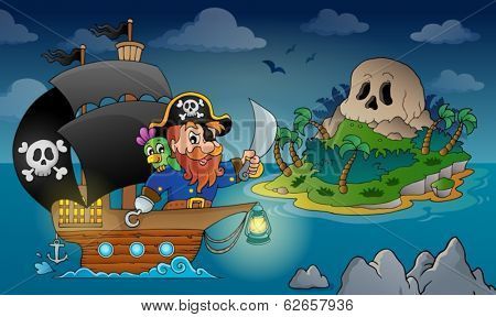 Pirate ship theme image 4 - eps10 vector illustration.