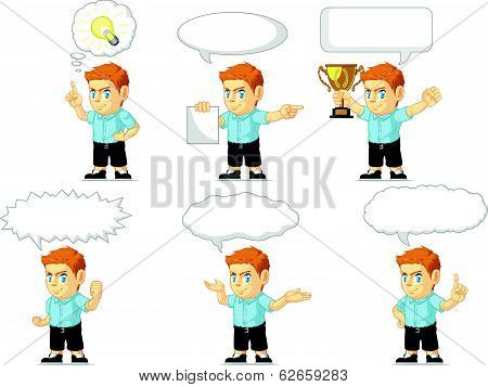 Red Head Boy Customizable Mascot 21
