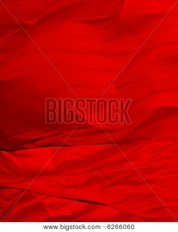 Bright, Shiny And Colorful Red Flag Abstract Background.