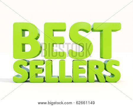 Best sellers icon on a white background. 3D illustration.