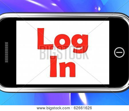 Log In Login On Phone Shows Sign In Online