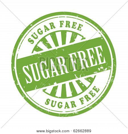 Sugar Free Grunge Rubber Stamp
