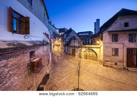 Narrow street in medieval town