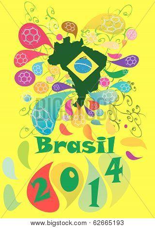 fotball soccer  in Brazil in yellow