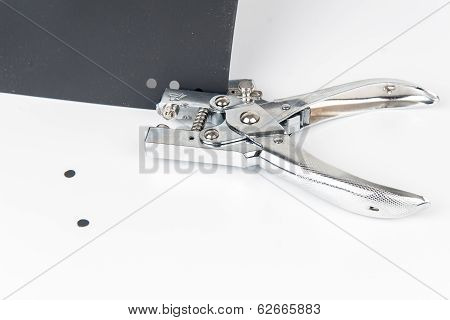 Office Puncher Unit isolated on white background