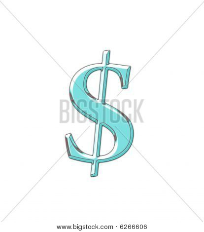 Dollar Sign In Abstract Colors