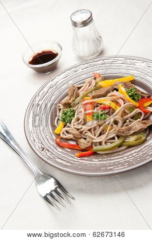 Traditional Japanese Buckwheat Soba Noodles