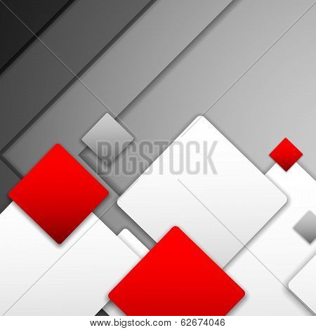 Vector Overlapping Squares Background