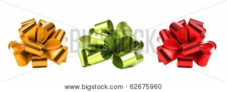Big Red Green And Yellow Bows.