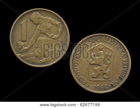 Vintage Czechoslovakian coin