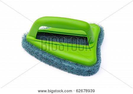 Brush Scrubber Isolated Over White Background