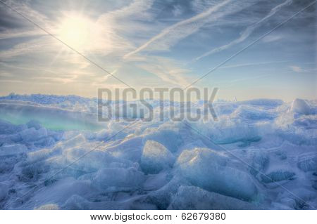 Lake Erie Ice Sunrise